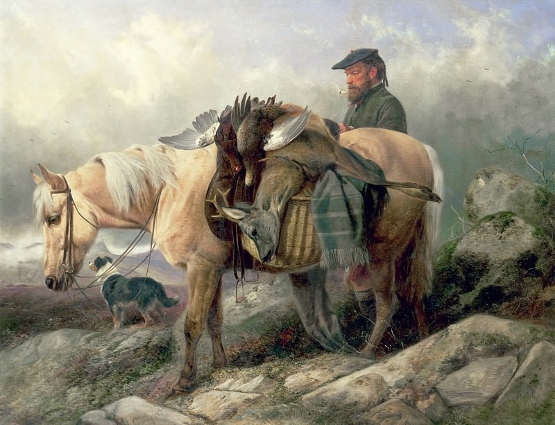 Returning from the Hill. Richard Ansdell