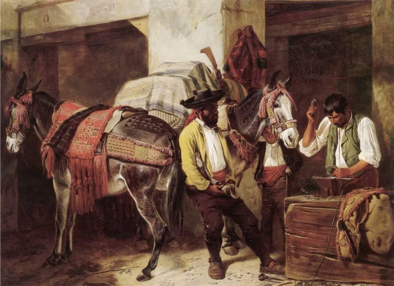 The Blacksmiths Shop. Richard Ansdell