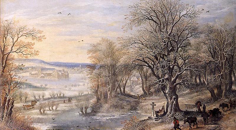 Winterlandscape Sun. Denis Van Alsloot