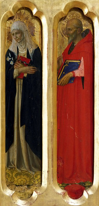 Perugia Altarpiece - St Catherine of Siena and St Jerome. Fra Angelico