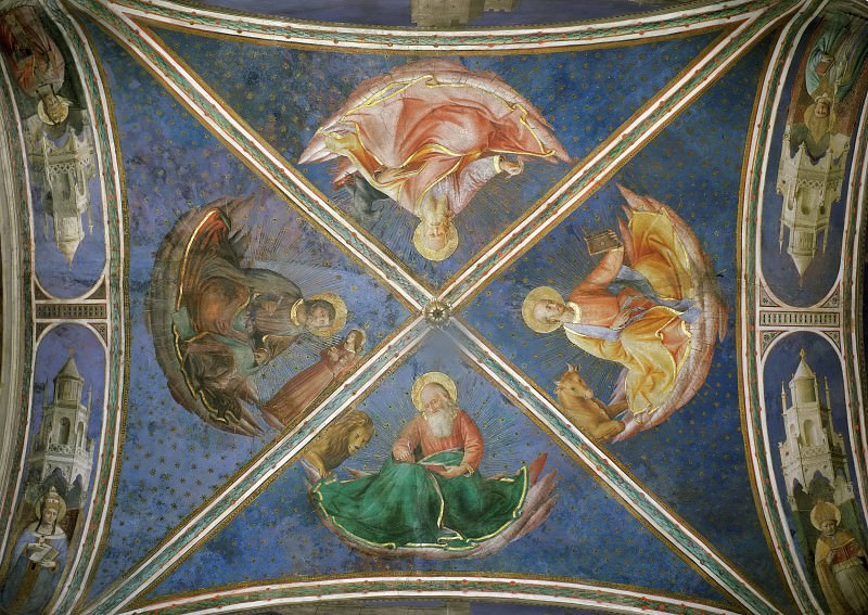 View of the chapel vaulting. Fra Angelico