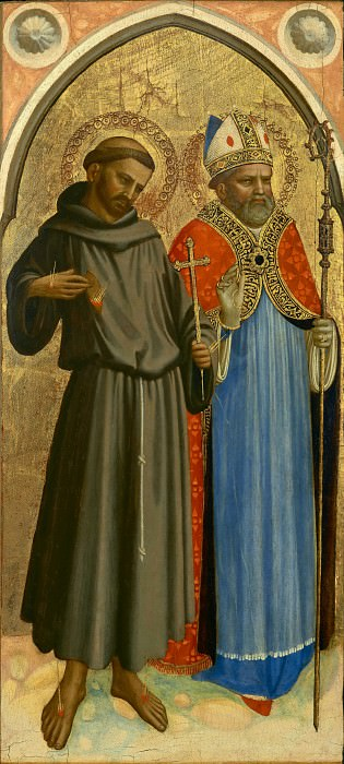 Saint Francis and a Bishop Saint. Fra Angelico
