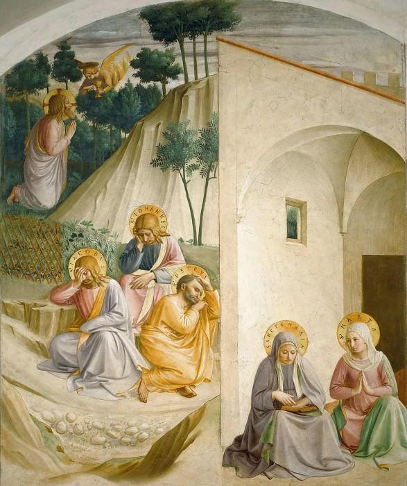 34 Моление о чаше. Мария и Марта. Фра Анджелико