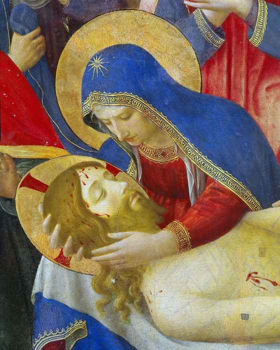 Lamentation over Christ, detail. Fra Angelico