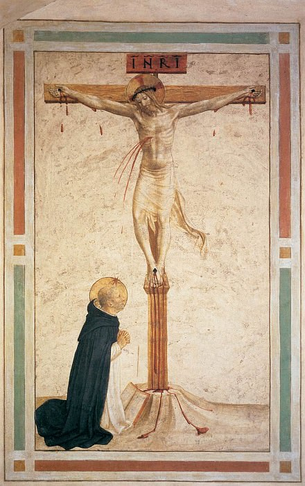 17 Crucifixion with St Dominic. Fra Angelico