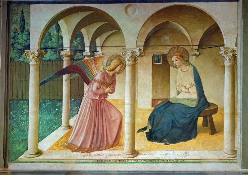 The Annunciation to Mary. Fra Angelico