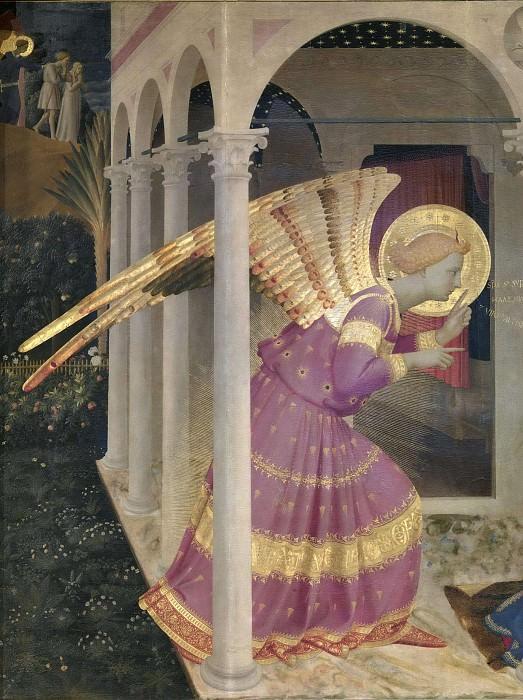 Кортонский алтарь - Благовещение, фрагмент. Фра Анджелико