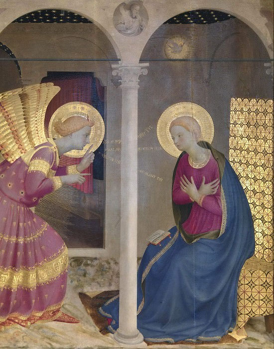 Cortona Altarpiece - Annunciation, detail. Fra Angelico