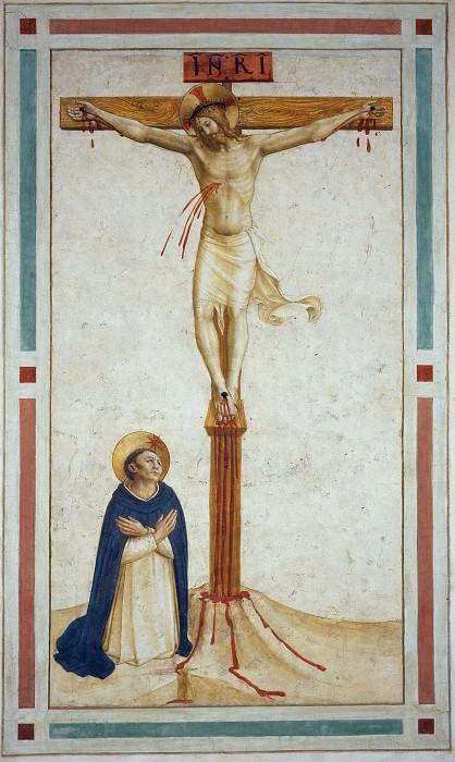 18 Распятие со святым Домиником. Фра Анджелико