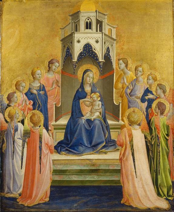Мадонна с Младенцем на троне с двенадцатью ангелами. Фра Анджелико