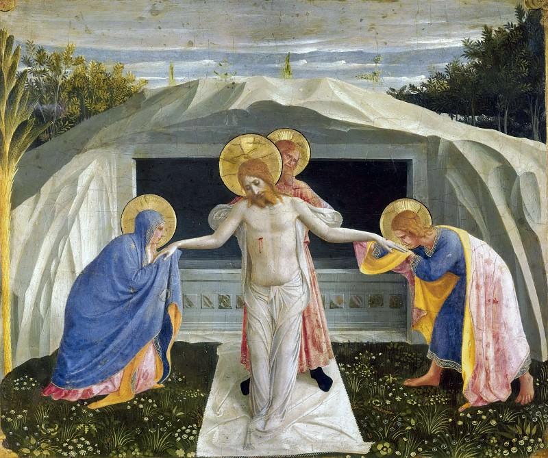 Алтарь монастыря Сан Марко, пределла - Погребение Христа. Фра Анджелико