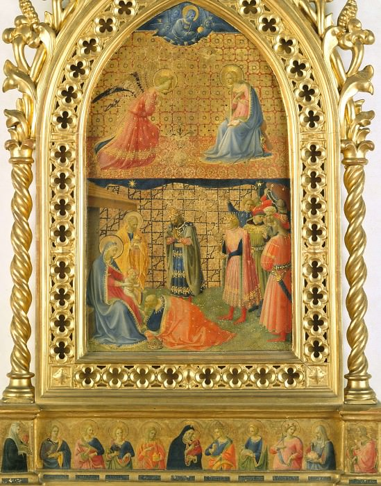 Annunciation and Adoration of the Magi. Fra Angelico