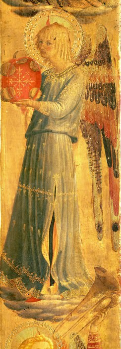 Linaioli Tabernacle - Angel making music. Fra Angelico