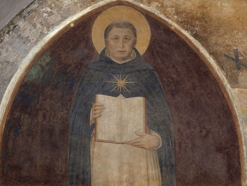 Saint Thomas of Aquinus with his book Summa theologiae. Fra Angelico