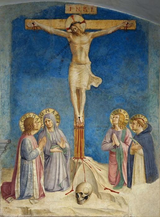 38 Распятие Христа с Девой Марией и святыми. Фра Анджелико