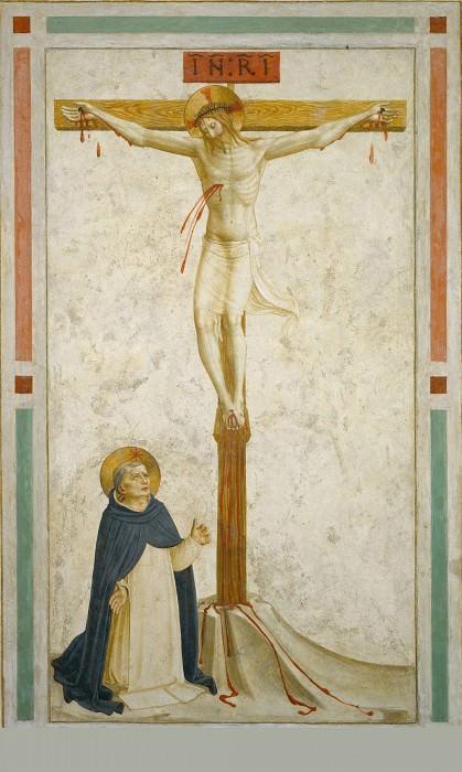 21 Распятие со святым Домиником. Фра Анджелико