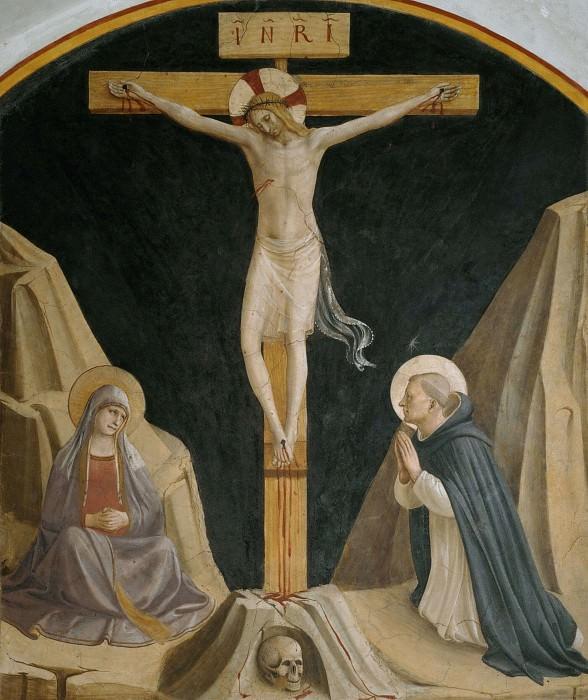 30 Распятие с Богоматерью и святым Домиником. Фра Анджелико