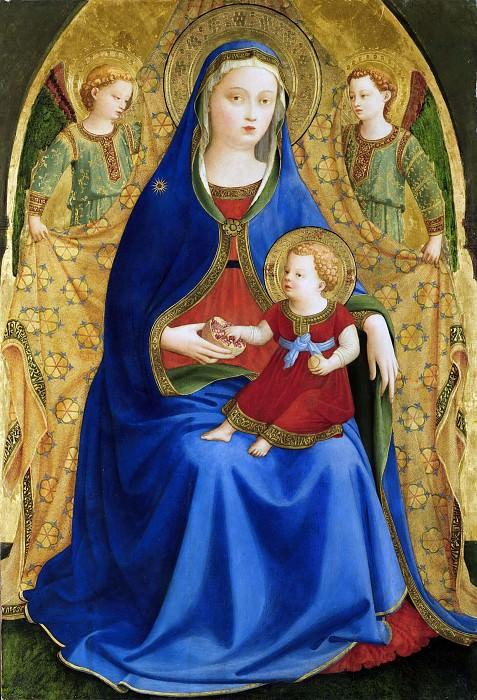 Мадонна с Младенцем и двумя ангелами (Мадонна с гранатом). Фра Анджелико