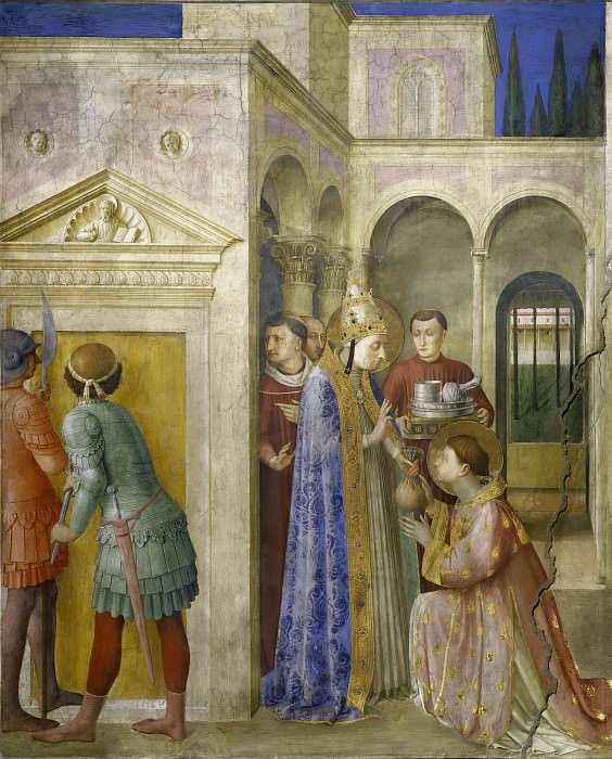 St. Sixtus Entrusts the Church Treasures to Lawrence. Fra Angelico