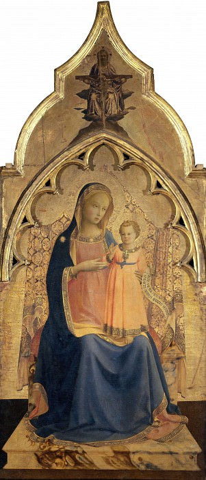 Compagnia di San Francesco Altarpiece - Madonna and Child. Fra Angelico