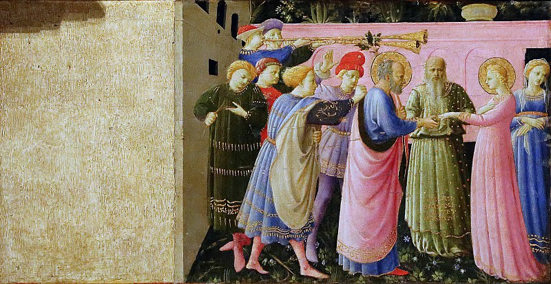 Annunciation, predella - Betrothal of the Virgin Mary. Fra Angelico