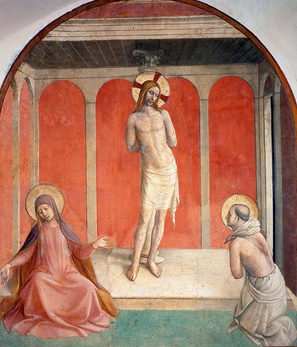 27 Christ on the column of flagellation. Fra Angelico