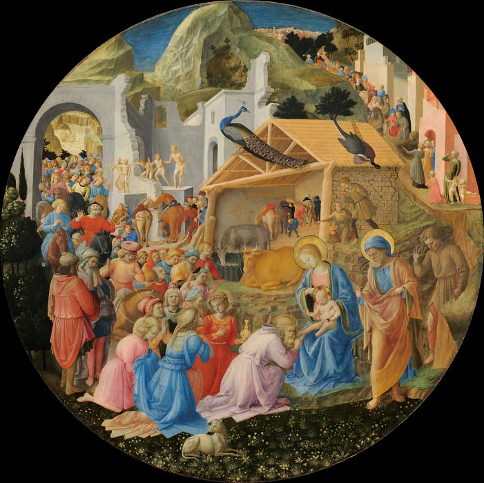 The Adoration of the Magi (finished by Filippo Lippi). Fra Angelico