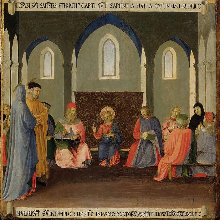 10. Христос среди книжников. Фра Анджелико
