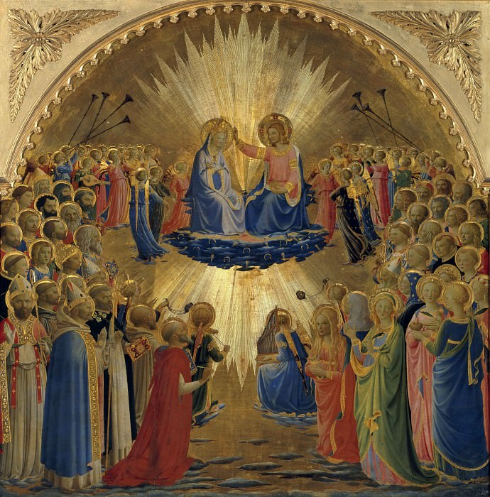 Coronation of the Virgin with Saints and Angels. Fra Angelico