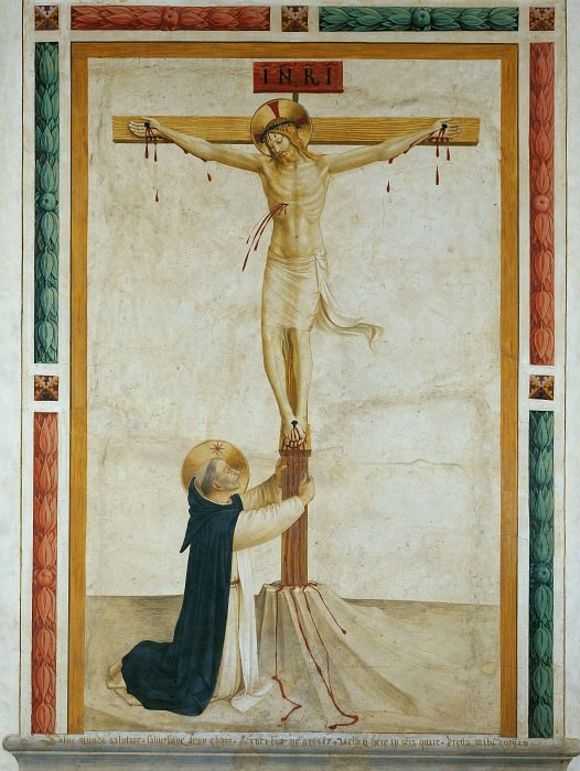 Saint Dominic Adoring Christ on the Cross. Fra Angelico