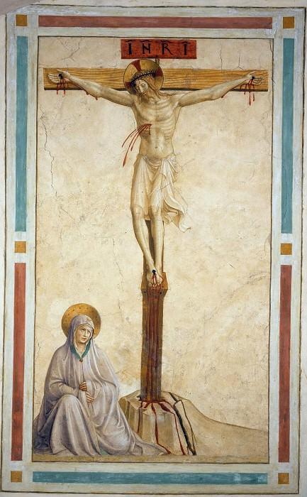 22 17 Распятие со святым Домиником. Фра Анджелико