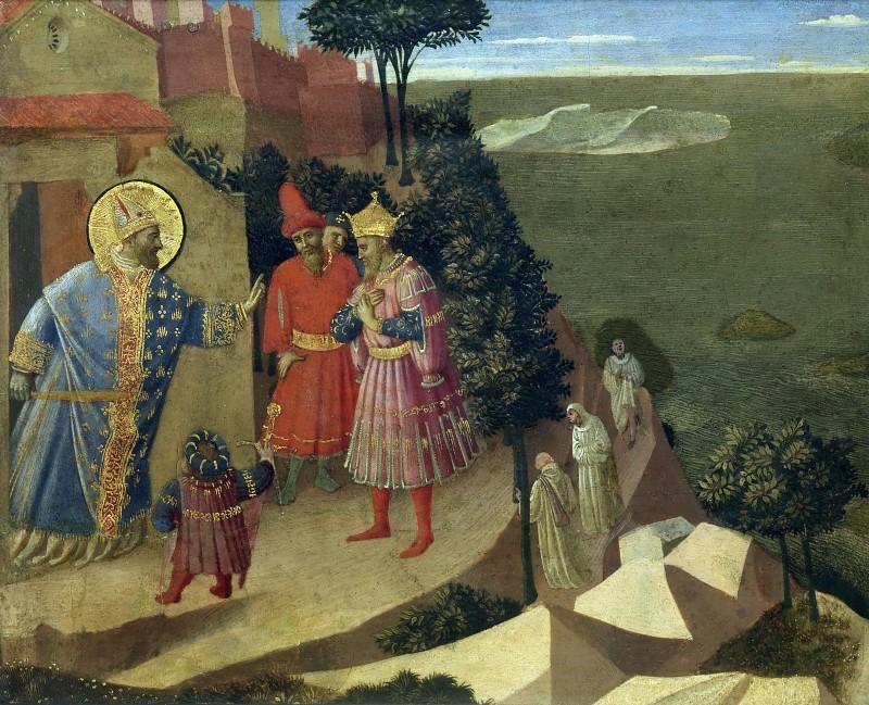 Встреча святого Ромуальда с Оттоном III. Фра Анджелико