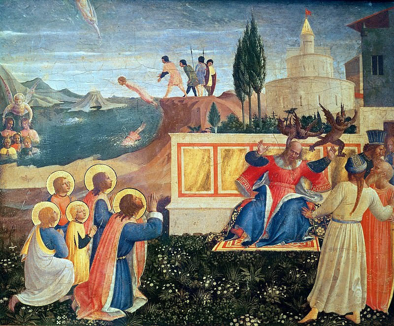 San Marco altarpiece, predella - Saint Cosmas and Saint Damian Salvaged. Fra Angelico