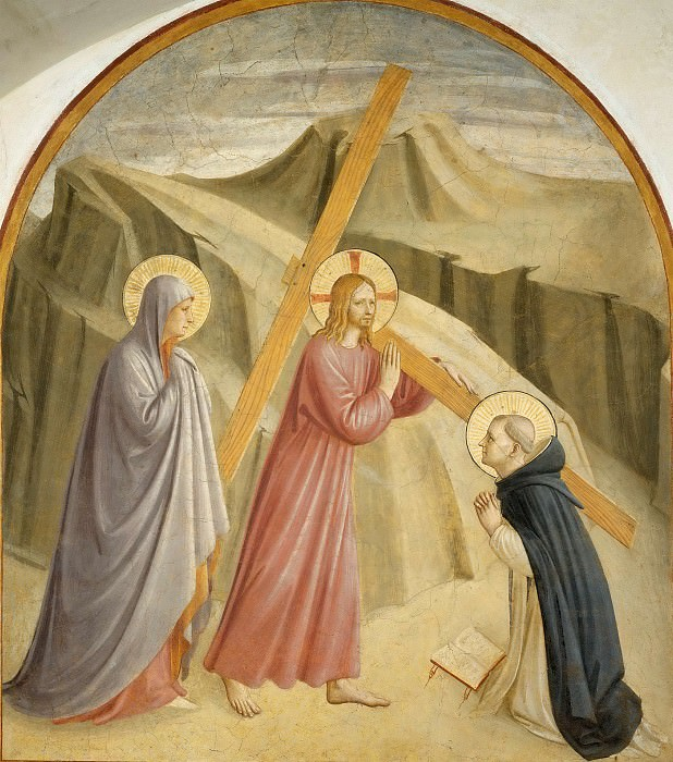 28 Christ carrying the Cross. Fra Angelico