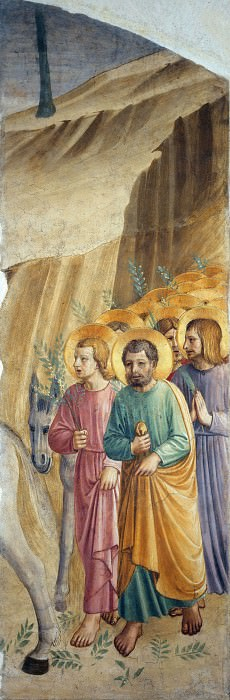 33a Entry into Jerusalem. Fra Angelico