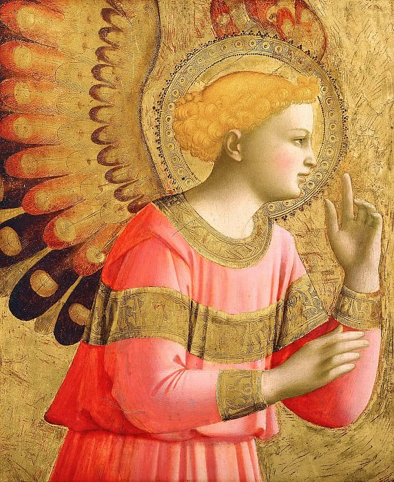 Annunciatory Angel. Fra Angelico