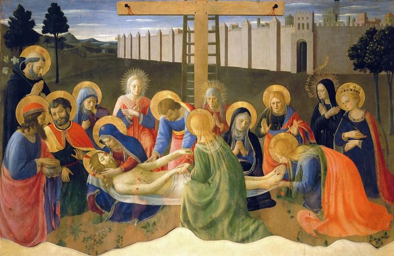 Lamentation over Christ. Fra Angelico
