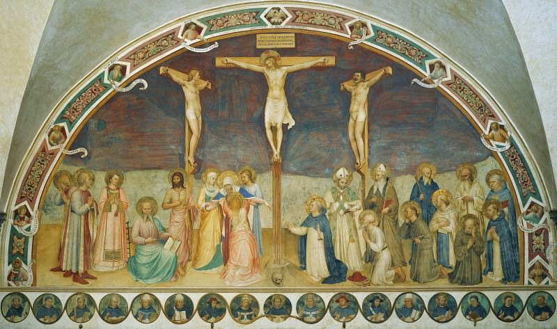 Crucifixion with Saints. Fra Angelico