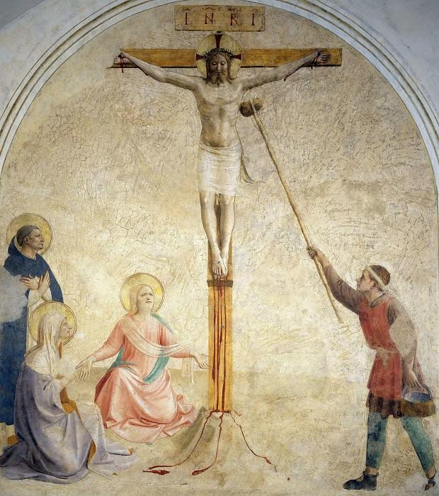 41 Распятие с Девой Марией, Марией Магдалиной и святым Домиником. Фра Анджелико