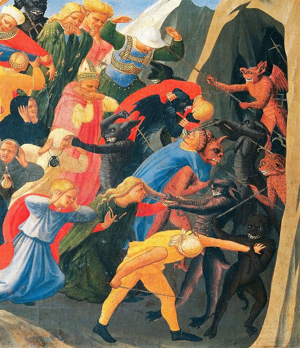 The Last Judgement, detail - The damned. Fra Angelico
