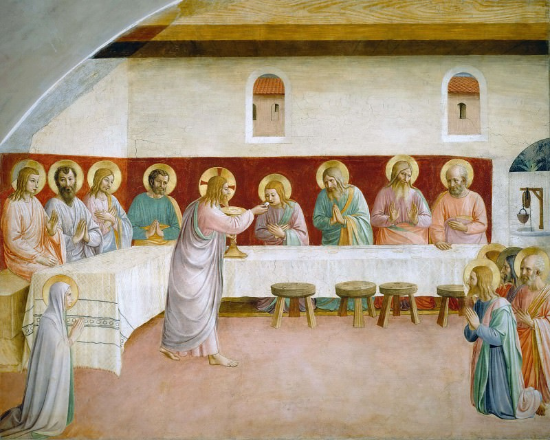 35 The Last Supper. Fra Angelico