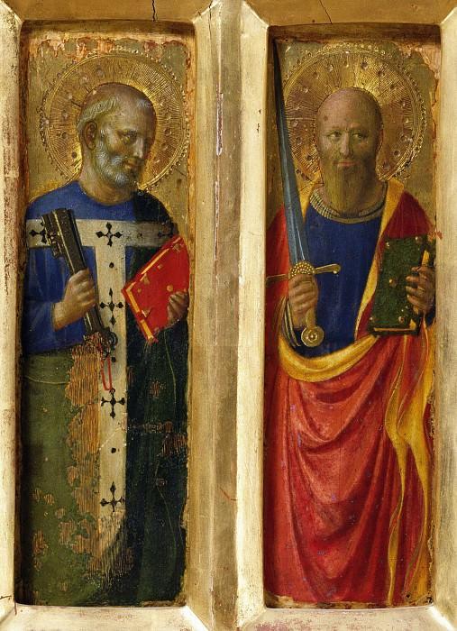 Алтарь из Перуджи - Апостолы Петр и Павел. Фра Анджелико