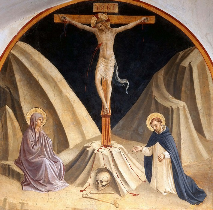 29 Christ on the Cross with St. Mary and Saint Peter the Martyr. Fra Angelico