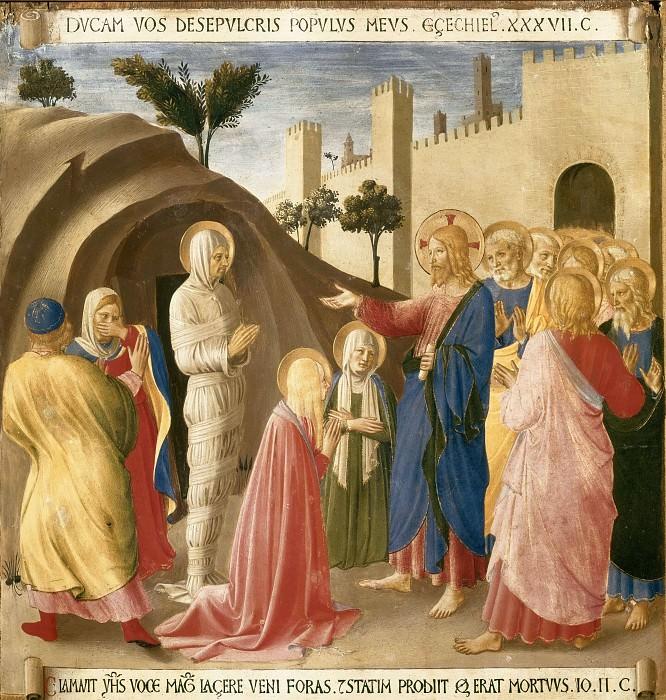 12. Raising of Lazarus. Fra Angelico