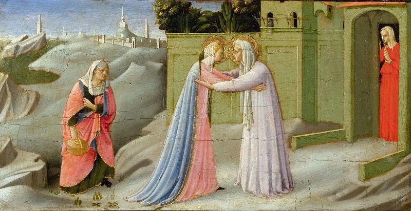 Annunciation, predella - Visitation. Fra Angelico