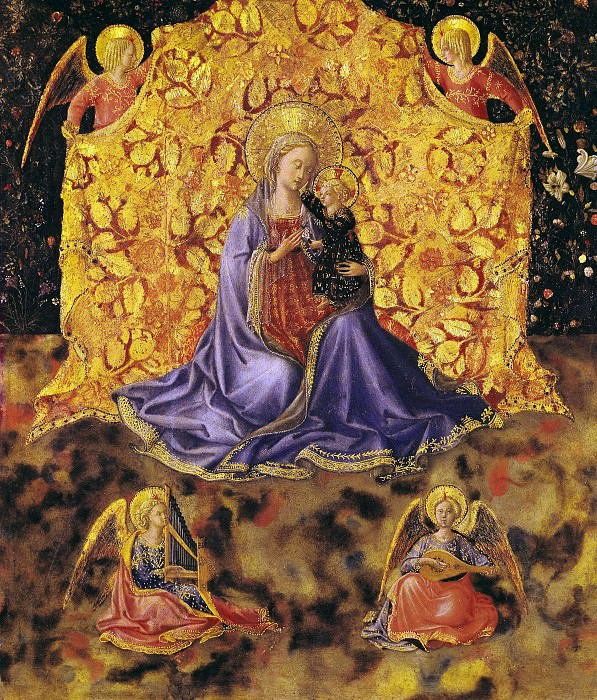 Madonna of Humility with Angels. Fra Angelico