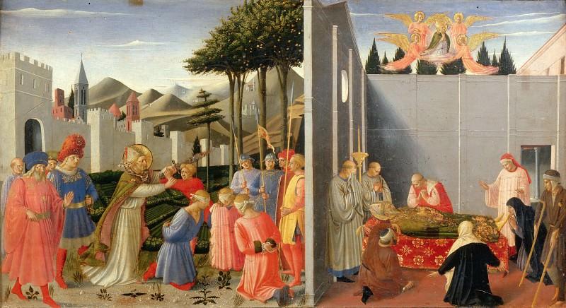 Алтарь из Перуджи, пределла - Спасение приговоренных к казни и Успение святого Николая. Фра Анджелико