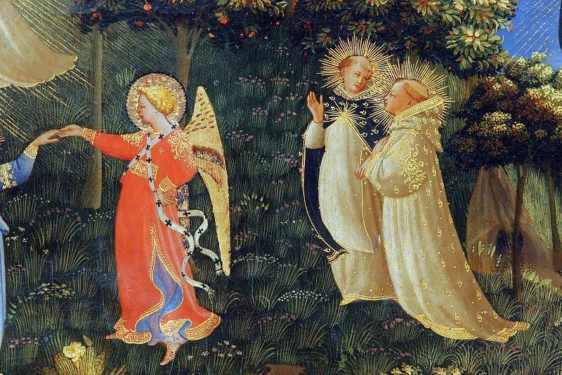 Страшный суд, фрагмент - Танец блаженных и ангелов. Фра Анджелико