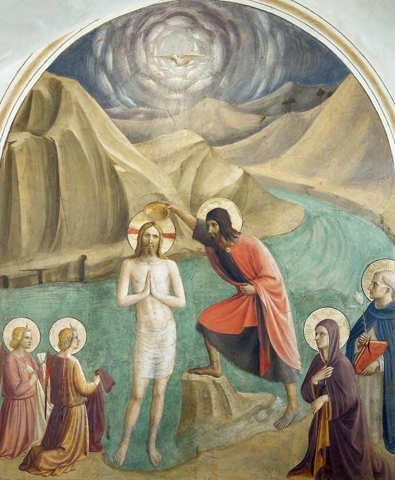 24 Крещение Христа. Фра Анджелико