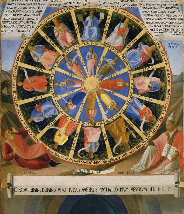 02. The Mystical Wheel (The Vision of Ezekiel). Fra Angelico